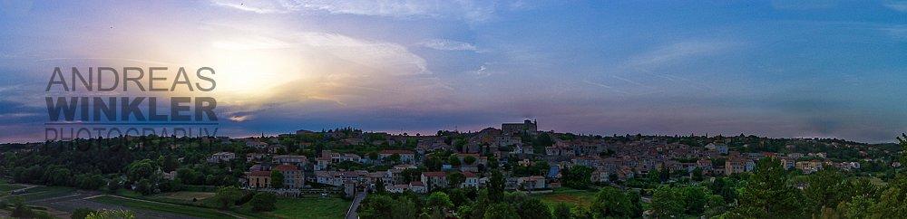 Pano05 - Sonnenuntergang über Valensole