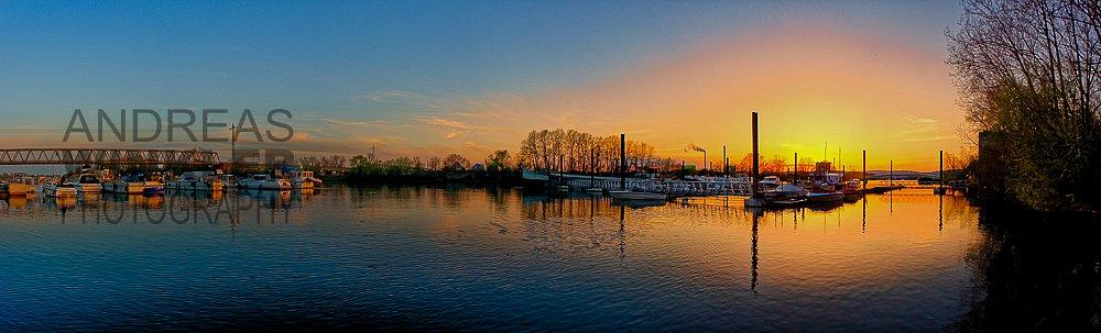 Pano09 - Sonnenuntergang am Rhein