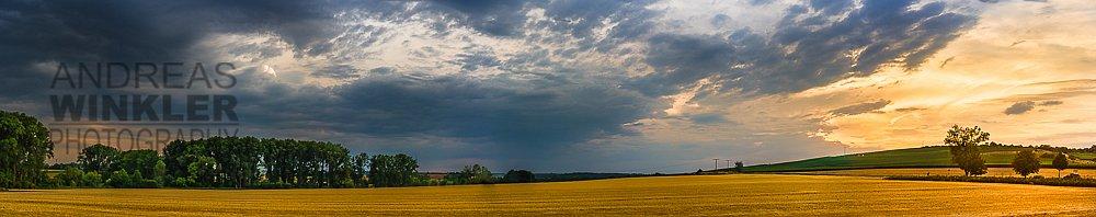 Pano15 - Wolkenpanorama über Rheinhessen